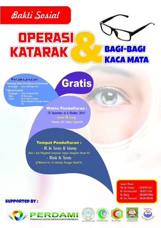 Bakti sosial operasi katarak dan bagi-bagi kacamata gratis